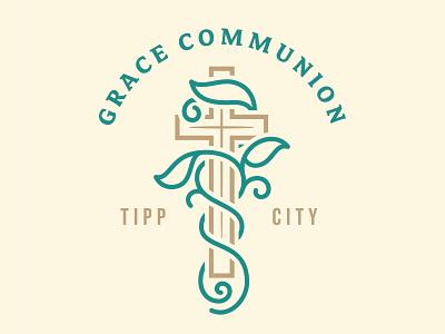 Grace Communion Logo sermon clean vine cross logo ministry bible church