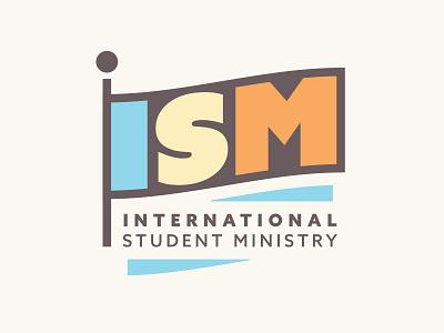 ISM Logo sermon design logotype world travel airport flag student international logo ministry bible church