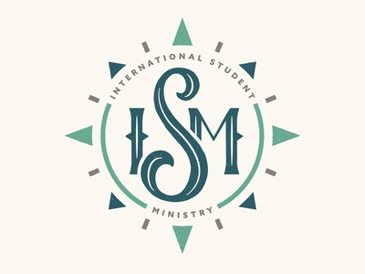ISM Logo 2 hand lettering typography navigation travel compass sermon ministry logo bible lettering church
