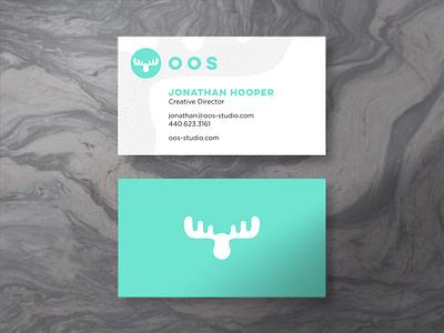 oos Business Cards craftcms react reactjs web design web development software marketing oos print design studio moose branding and identity branding business card