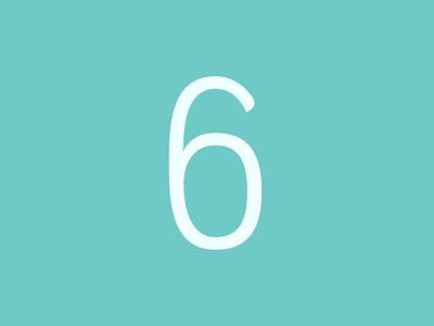 Number 6 artwork type design font typeface modern lettering graphic design vector typography art design adobe 2d