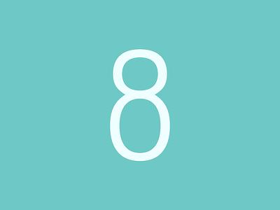 Number 8 artwork type design font typeface modern lettering graphic design vector typography art design adobe 2d