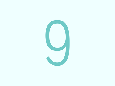 Number 9 2d adobe design art typography vector graphic design lettering modern typeface font type design artwork