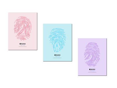 Apple Music Interactive Posters media music streaming typography interactive collateral print apple music apple