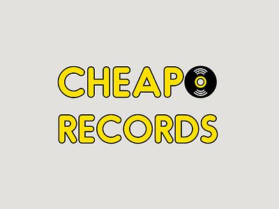 Cheapo Records Logo vintage record store cheapo records cheapo typogaphy logodesign logotype logo