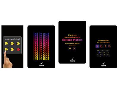Rexona Menu & Emojis main menu menu emojis rexona web design interactive design interactive