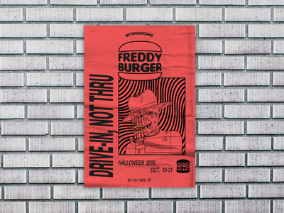 Rejected Freddy Burger Illustration Poster layout poster print design print character development cartooning illustration designsbylos