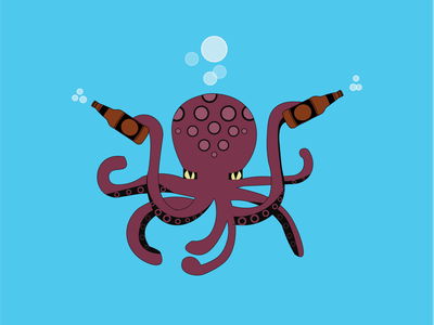 Octopus vector design character development cartooning illustration designsbylos
