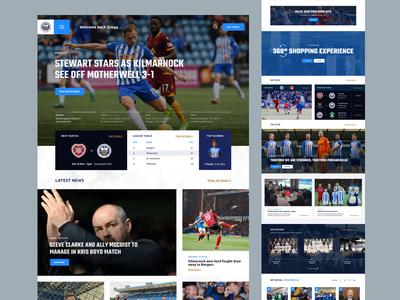 Kilmarnock FC - Homepage concept sport grid layout clean ui website football concept responsive homepage web web design ux ui