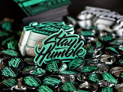 Stay Humble - Sticker hand lettering lettering stickers