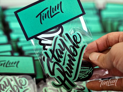 Stay Humble - Goodie Pack buttons packaging hand lettering lettering stickers