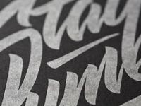 Silver Letterpress