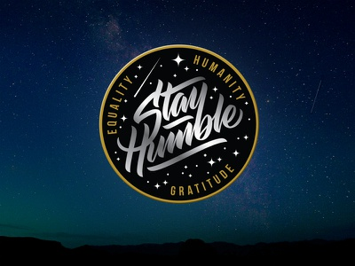 Stay Humble - embroidered patch design embroidery patch apparel