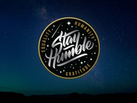 Stay Humble - embroidered patch design