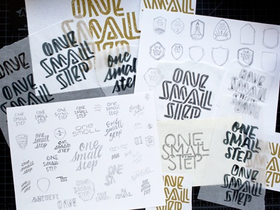 One Small Step (Process) sketches hand lettering lettering process