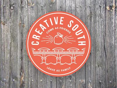 Creative South Bridge Badge illustration creative south graphic design badge