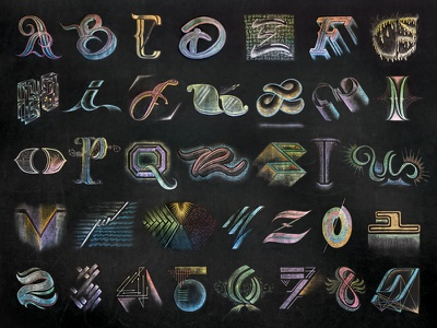 36 Days of Type 2017 mural lettering chalk