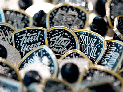 Discovery Pins calligraphy hand lettering graphic design lapel pin enamel pin