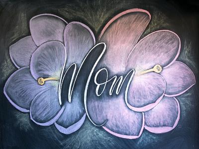 Mother's Day Chalk Mural illustration mural lettering chalk