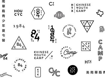 Badge Exploration - Houston CYC crest lettering badge design badge