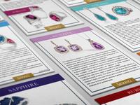 Gemstone Information Card