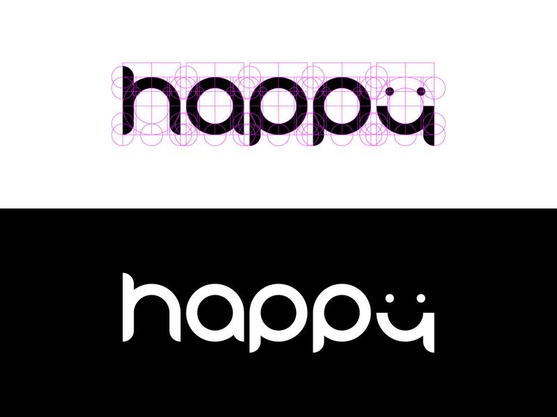 Be Happy :) happy golden ratio logo golden ratio logo design logotype logo