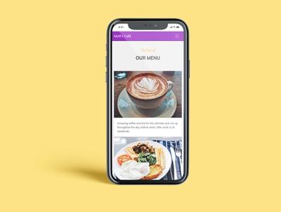 Cafe Website iPhone Mockup website concept visual design ux ui graphicdesign bootstrap html website design irish designer blanchardstown inspiration design branding design