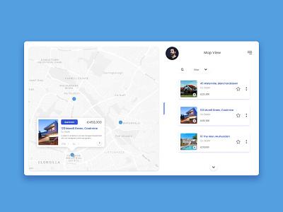 Real Estate Map View blanchardstown dublin web app ui graphicdesign irish designer uidesign property dashboard app irish design dashboard inspiration design design