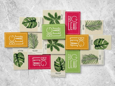 Big Leaf Cafe - Business Cards