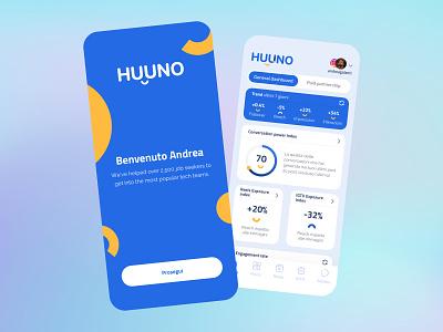 Huuno   Augmented Analytics minimal illustration branding typography uidesign icon app design ux ui