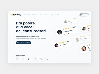 Feedaty Redesign app branding logo graphic design ui