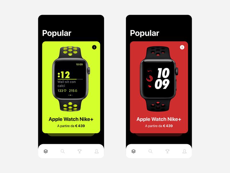 Product Card App Concept icon design ux ui app