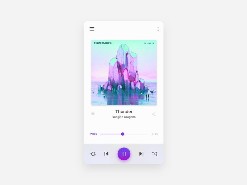 Music App Concept ui ux design app