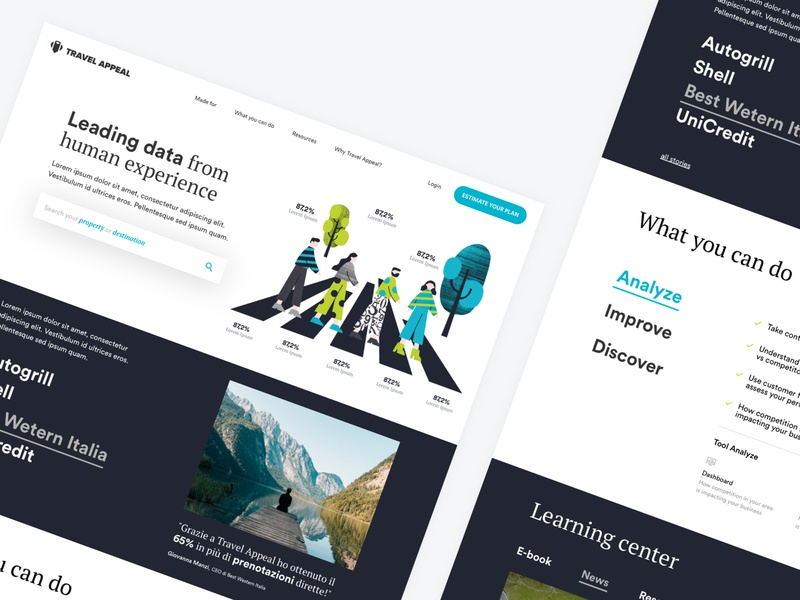 Travel Appeal Desktop redesign design website branding illustration typography icon ui ux