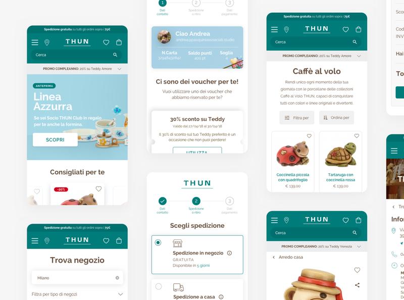 THUN Restyling UI type web website uidesign typography icon design ux ui