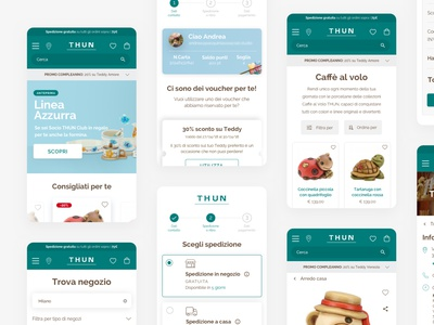 THUN Restyling UI type web website uidesign typography icon design ux ui