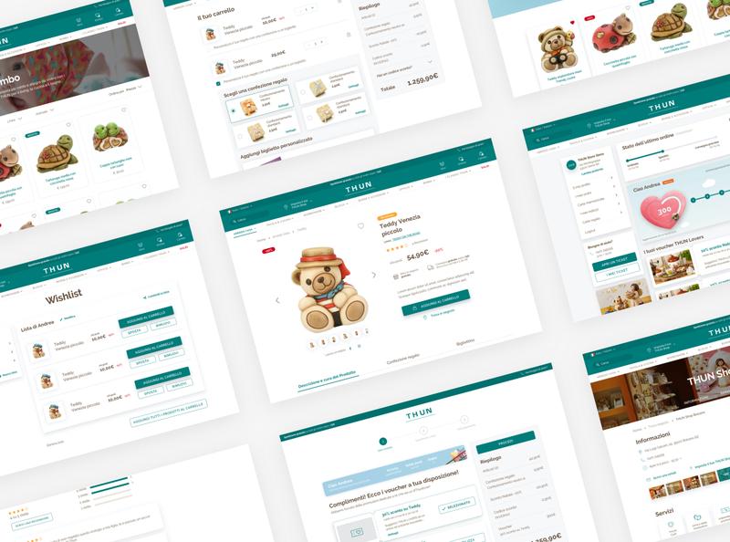 THUN New Desktop UI web website uidesign design ux ui