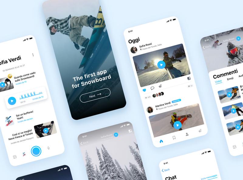 Snowboard App UI Concept type uidesign typography icon ux ui