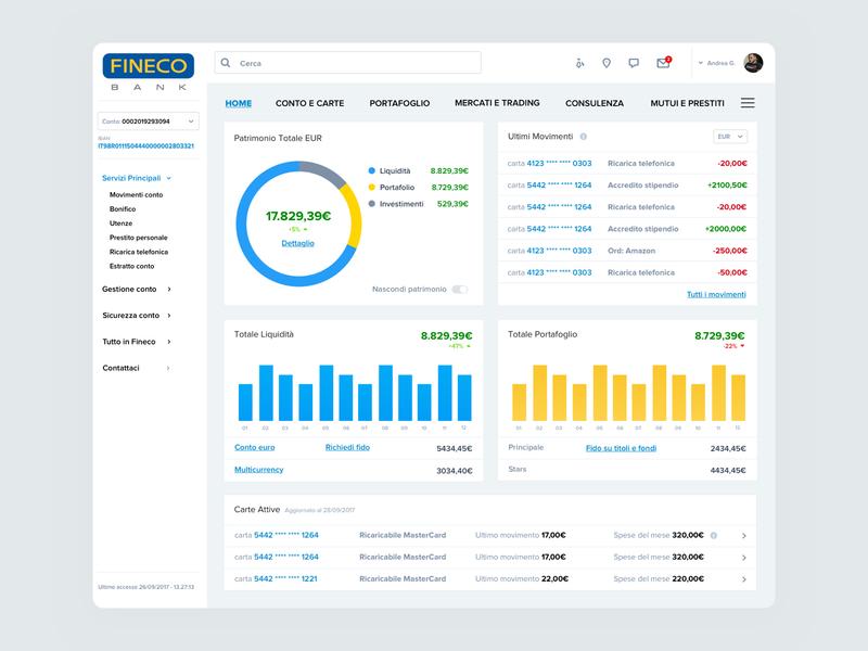 Fineco Bank UI Concept Redesign website minimal web uidesign typography icon app design ux ui