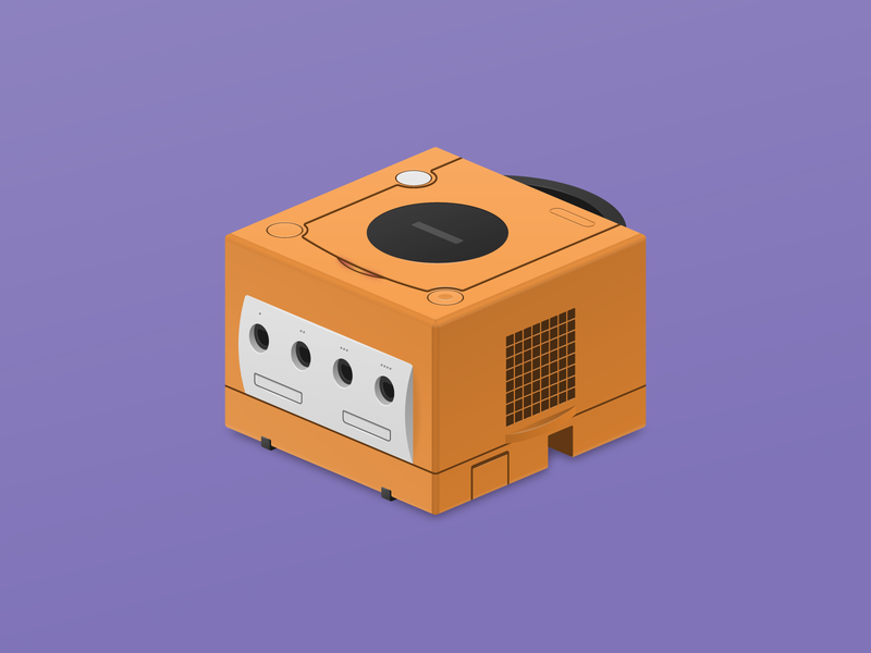 Gamecube Illustration gamecube nintendo video games vector illustration
