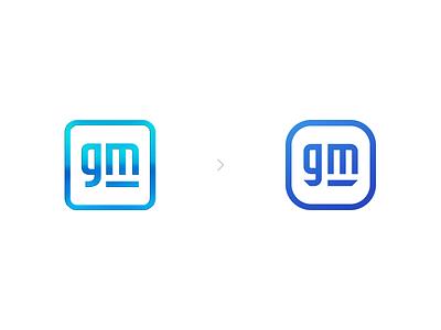 GM Redesign Concept redesign rebrand gm cars generalmotors vector branding logo