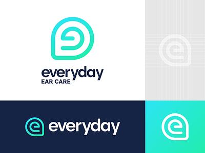 Everyday Ear Care Logo Design throat nose doctor ear icon symbol brand identity logo branding