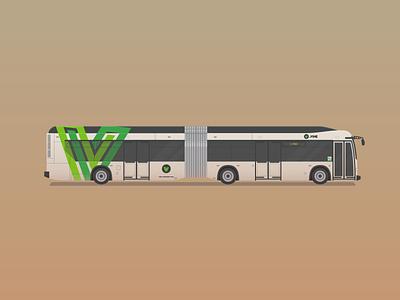 The Vine illustration bus