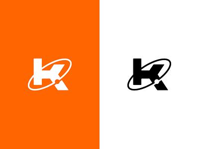 New Logo Mark! kbd orange orbit space logo