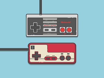 Old School Nintendo famicom nes nintendo video games