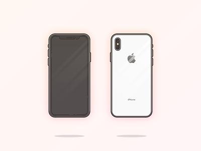 iPhone X illustration 10 x iphone apple