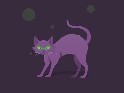 Spooked Cat vectober spooky halloween cat