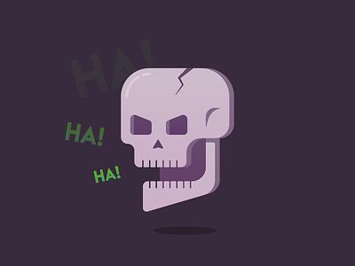Skull vectober laughing skull