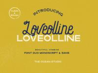 Loveolline Vintage Font Duo