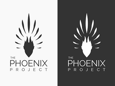Phoenix Project Logo Concept 2 logo design concept flats phoenix wings